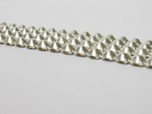 Rhinestone Banding - 4 row, silver back view
