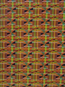 African Print Cotton Fabric - Kente Umber Print - AF14-#1 - Railroaded