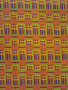 African Print Cotton Fabric - Kente Stripes Print - AF14-#3 - Railroaded