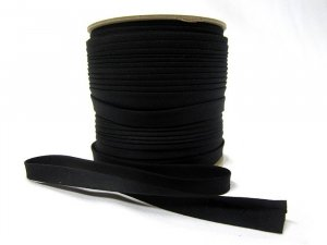 "Wholesale Bias Tape - Black Extra Wide Double Fold - 1/2"" finished x 100 yard spool"
