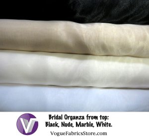 Bridal Organza Fabric - Group shot of bolts
