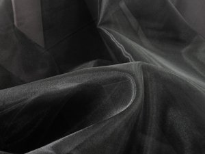 "Wholesale Bridal Organza - Black, 60"" wide"