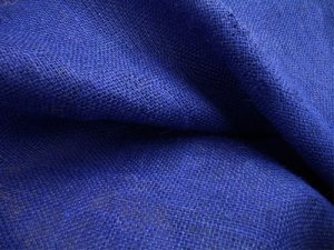 "Burlap fabric, color name ""Ecliptic Blue"""