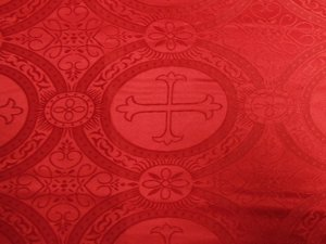 Church Brocade - Red