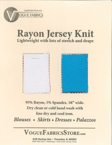 Color Card - Rayon Jersey Knit