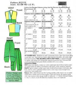 Cutting Line Designs - Discover Something Novel pattern yardage chart