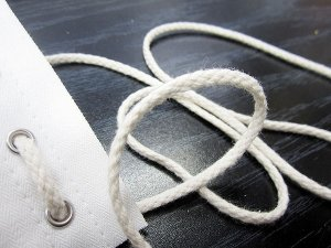 "Cotton Cord - 1/8"" Cotton Draw Cord - Ivory for use in drapery, garment drawcord and corset lacing cord"