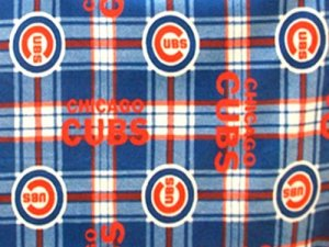 Cubs Plaid Polar Fleece Fabric #6612 - alternate view