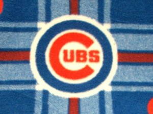 Cubs Plaid Polar Fleece Fabric #6612