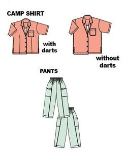Cutting Line Designs - Easy, Ageless, Cool camp shirt and pants pattern