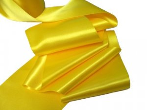 Double Faced Satin Ribbon - Yellow #81