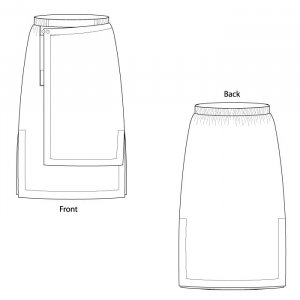 Shapes Eleven Eleven Skirt pattern drawing