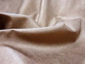 Metallic Faux Leather Fabric - Bronze #9