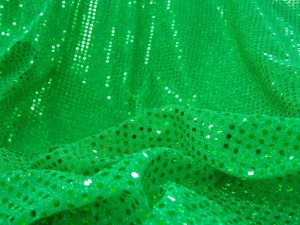 Wholesale Faux Sequin Knit fabric - Flag Green