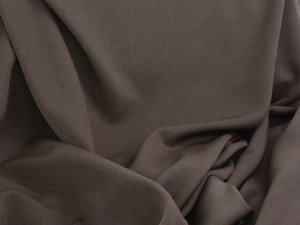 Felix Stretch Gabardine fabric - Chocolate