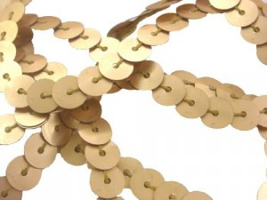 Wholesale Flat Slung Sequins 6mm - Matte Gold