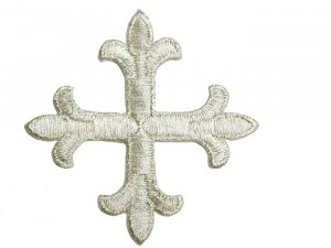 Fleury Patonce Cross #1652D - Silver Metallic