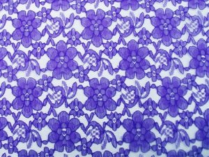 Floral Lace fabric - Royal