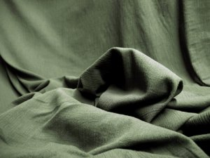 Cotton Gauze Fabric - Olive #830