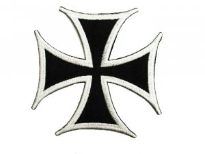 Germanic Cross #9202 - White Black
