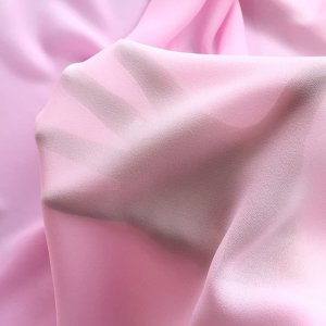 Polyester Georgette Solid - Rose Pink 08