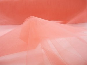 Illusion Tulle Fabric - Coral