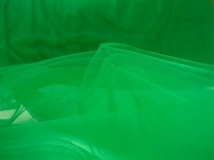 Wholesale Illusion Tulle Fabric - Kelly Green