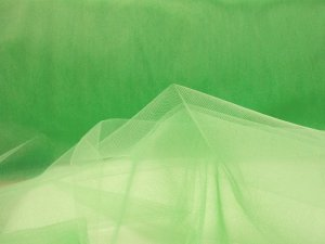 Illusion Tulle Fabric - Lime