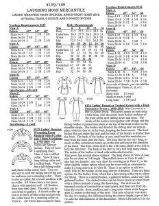 Laughing Moon #129/#126 - Ladies' Regency Wrapping Front Spencer and Apron Front Gown Sewing Pattern