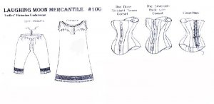 Laughing Moon Mercantile #100 Victorian Underwear - back views