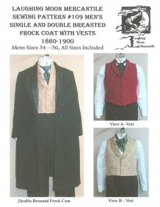 Laughing Moon #019-Men's Single and Double Breated Frock Coat and Vest