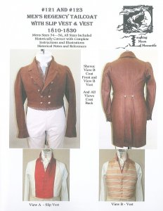 Laughing Moon #121-#123 Men's Regency Tailcoat and Vest