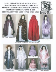 Laughing Moon #135- Ladies Cloak with hood