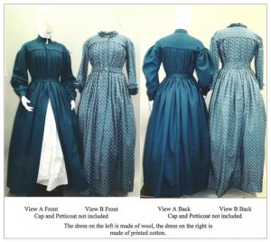 Laughing Moon #120 - Ladies' Victorian Pleated Dress, Work Dress, Maternity Dress Sewing Pattern