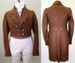 Laughing Moon #121 - Men's Regency Tailcoat with Five Collar and Lapel Options - Sewing Pattern