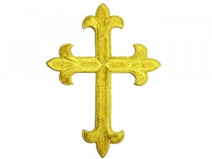 Fleury Latin Cross Applique #19953 - Gold Metallic