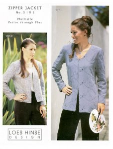 Loes Hinse Design - Zipper Jacket pattern #5105 pattern