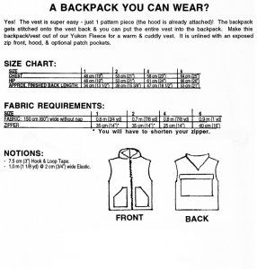 MacPhee #500 Kid's World's Easiest BackPack/Vest pattern