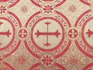 Metallic Church Brocade - Traditional - Red-Gold