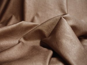 Metallic Faux Leather Fabric - Copper #7,