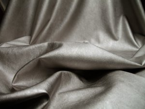 Metallic Faux Leather Fabric - Silver #6