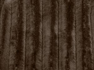 Wholesale Minky Animal Print Fur Fabric - Brown Mink, close up