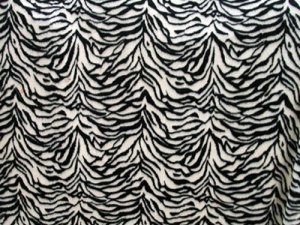 Minky Animal Print Fur Fabric - Zebra, full width view