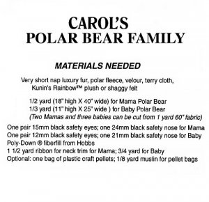 Carol's Polar Bear Family pattern