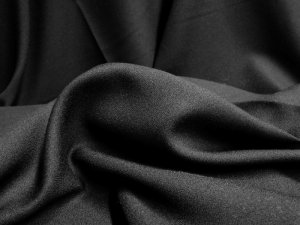 Polyester Crepe Solid - Black