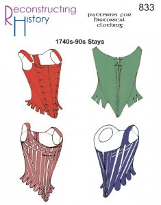 Reconstructing History Pattern #RH833 - 18th Century Corsets - Colonial and Revolutionary Corsets