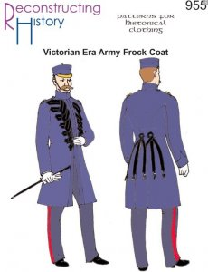 Reconstructing History Pattern #RH955 - Victorian Era British Army Frock Coat