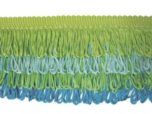 Rainbow Fringe - Lime, Light Blue, Green & Turquoise