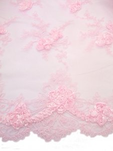 Double Border Rosette Netting - Pink view 2