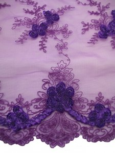 Double Border Rosette Netting - Purple alternate view